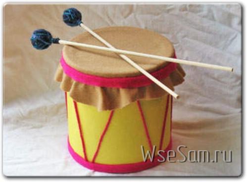 Детский барабан своими руками
