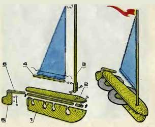 Самодельная парусная лодка для ребенка