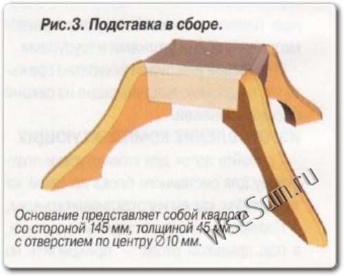 Подставка для елки своими руками