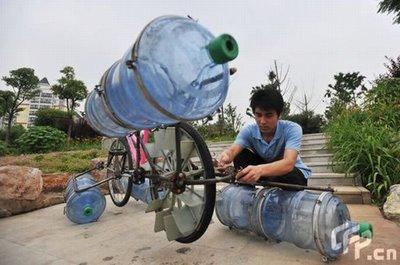 Самодельный катамаран из велосипеда