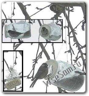 Как сделать простую кормушку для птиц