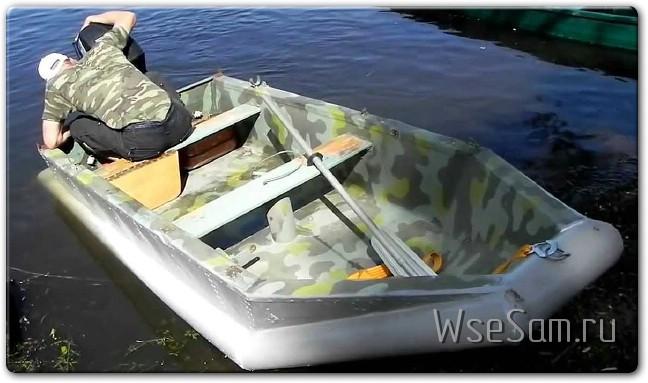 Самодельная лодка из ПВХ труб