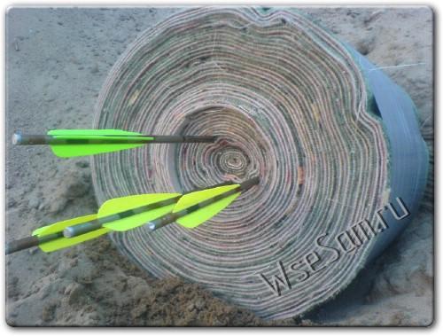 Самодельная мишень для лука или арбалета