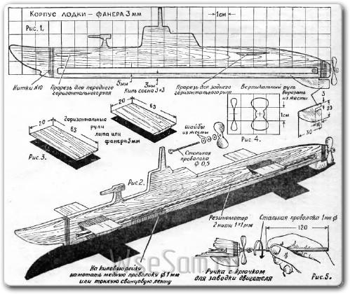 Самодельная игрушка подводная лодка