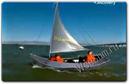 Лодка из скотча