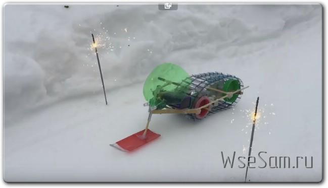 Снегоход на электродвигателе