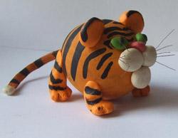 Самодельная игрушка Тигр