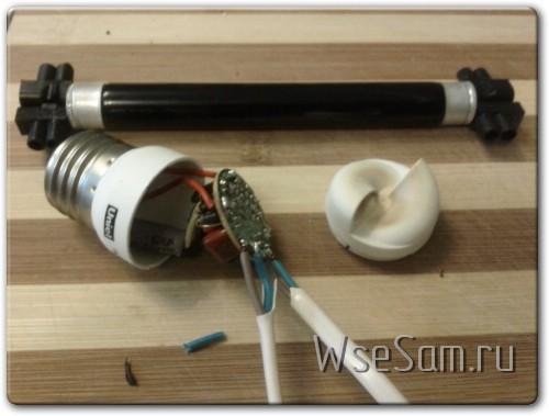 Изготовление УФ лампы для ногтей своими руками