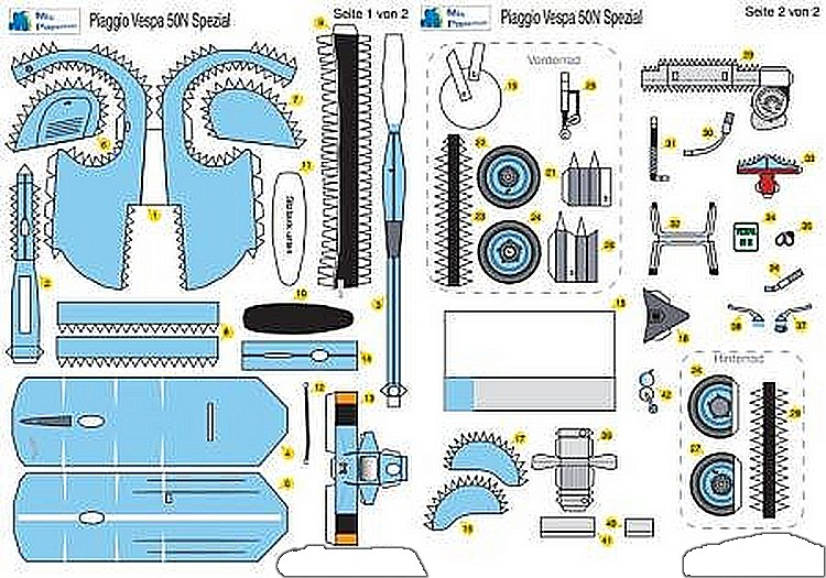 Как сделать игрушку мотороллер