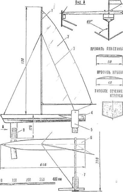 Самодельная яхта на подводных крыльях