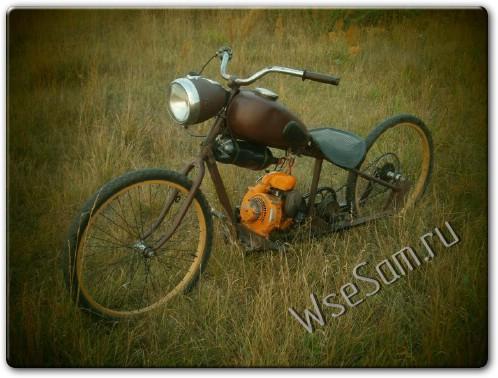 самодельный мотоцикл из бензопилы